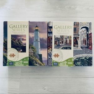 Other - Set of Beautiful Wooden Jigsaw Puzzles